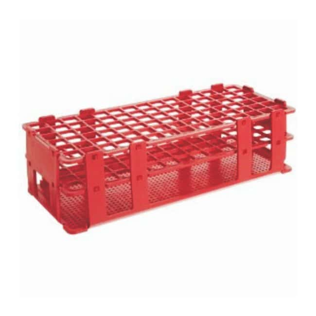 Bel-Art SP Scienceware No-Wire Autoclavable Test Tube Racks Red; 13mm tubes;