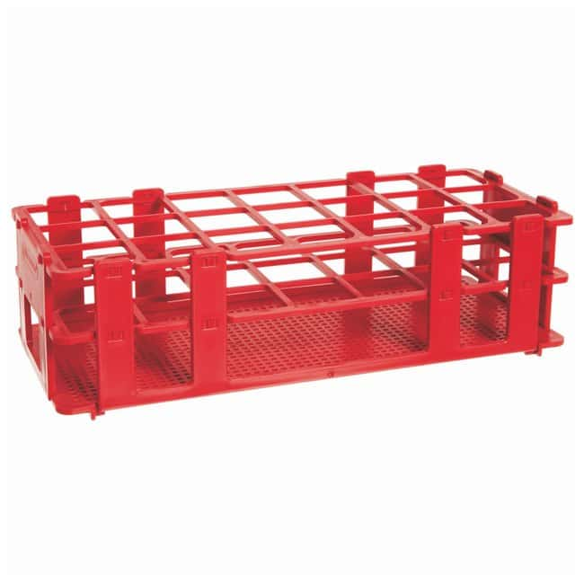 Bel-Art SP Scienceware No-Wire Autoclavable Test Tube Racks Red; 25-30mm