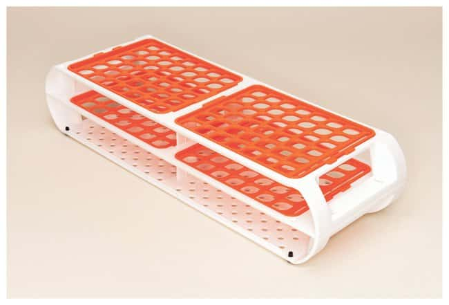 Bel-Art Scienceware Switch-Grid Test Tube Racks Rack w/Orange Grids; 10-13mm