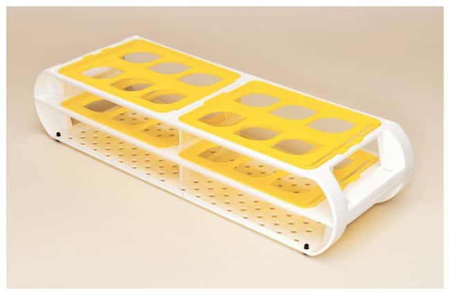 Bel-Art Scienceware Switch-Grid Test Tube Racks Rack w/Yellow Grids; 25-30mm