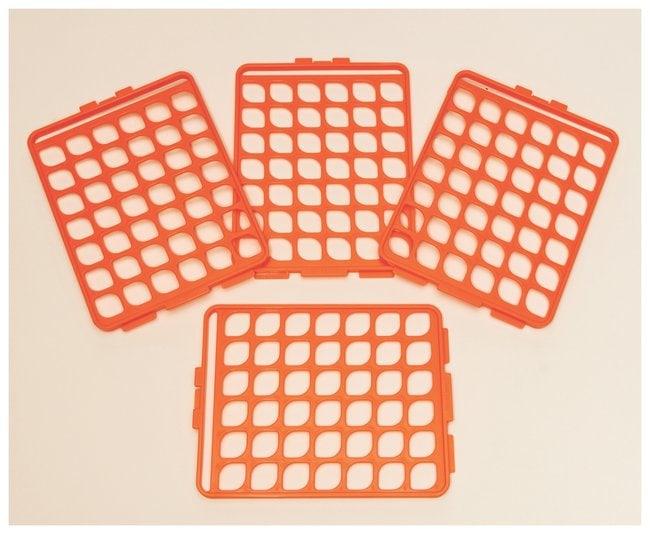 Bel-Art Switch-Grid Test Tube Rack Grids Grid Set; Orange; 10-13mm tubes:Racks,
