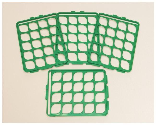 Bel-Art Switch-Grid Test Tube Rack Grids Grid Set; Green; 16-20mm tubes:Racks,