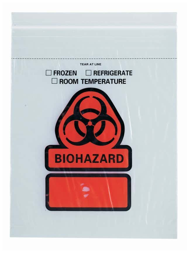 RD Plastics Three-wall Reclosable Biohazard Specimen Transport Bags Biohazard