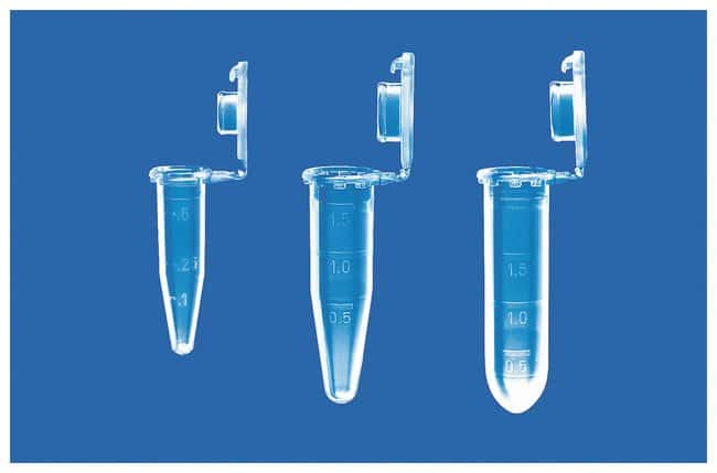 Eppendorf Snap-Cap Microcentrifuge Safe-Lock Tubes  w/Hinged lid; 2.0 mL;