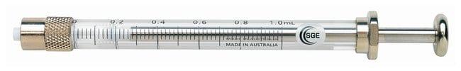 SGE™Gastight Syringes: Fixed Luer-Lok Models No needle; Fixed Luer lock; Volume: 1mL SGE™Gastight Syringes: Fixed Luer-Lok Models