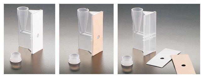 Simport™ ScientificCytoSep™ Trichter für Shandon™ Cytospin4™ Zentrifugen Einzeltrichter mit weißem Filter und Kappe Simport™ ScientificCytoSep™ Trichter für Shandon™ Cytospin4™ Zentrifugen