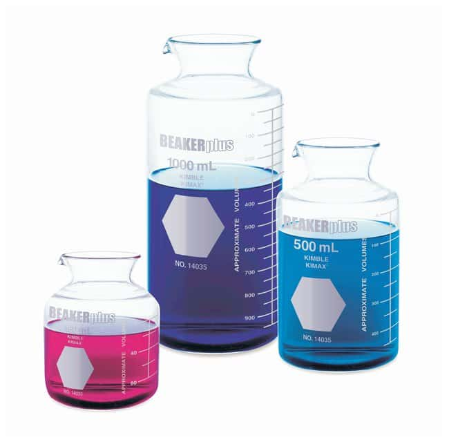 DWK Life Sciences Kimble BEAKERplus Combination Beakers and Flasks:Dishes,