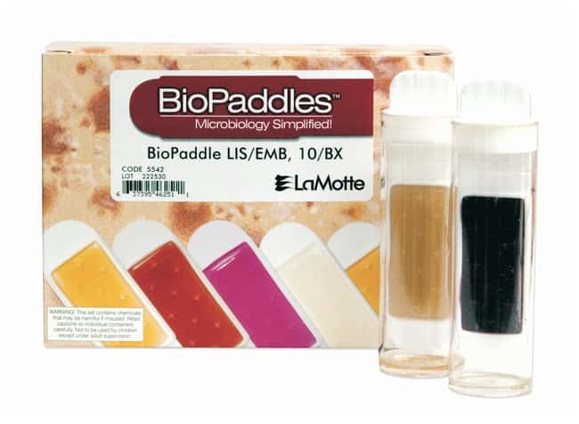 LaMotte BioPaddles Dual-Agar Paddles for Food and Beverage:Testing and