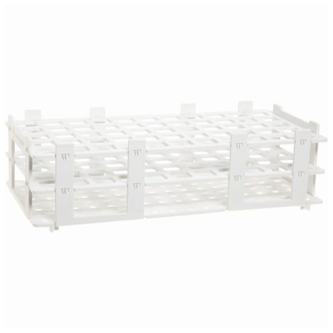 BRAND™Polypropylene Test Tube Racks For 16mm (0.63in.) tubes; White BRAND™Polypropylene Test Tube Racks
