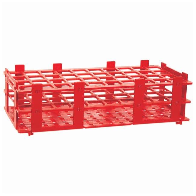 BRAND™Polypropylene Test Tube Racks For 20mm (0.79in.) tubes; Red BRAND™Polypropylene Test Tube Racks