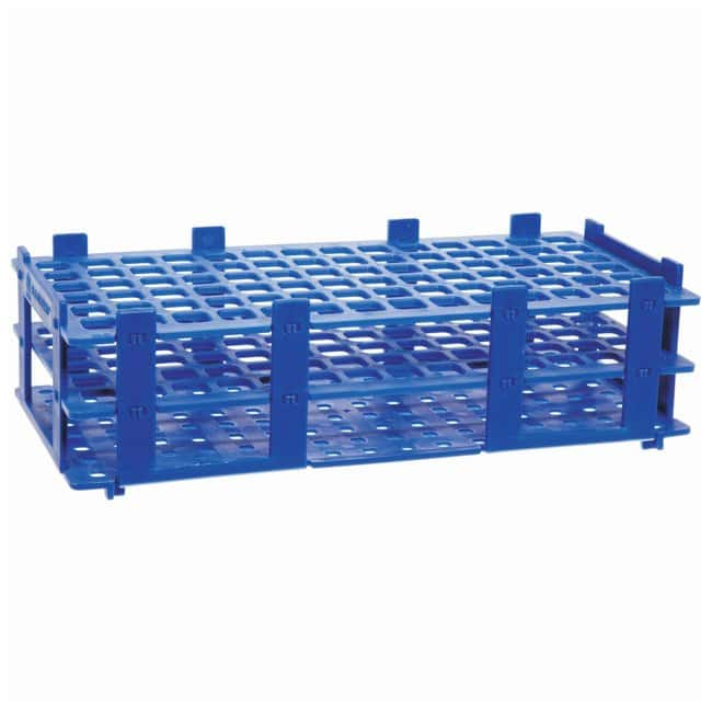 BRAND™ Polypropylene Test Tube Racks For 13mm (0.51in.) tubes; Blue BRAND™ Polypropylene Test Tube Racks