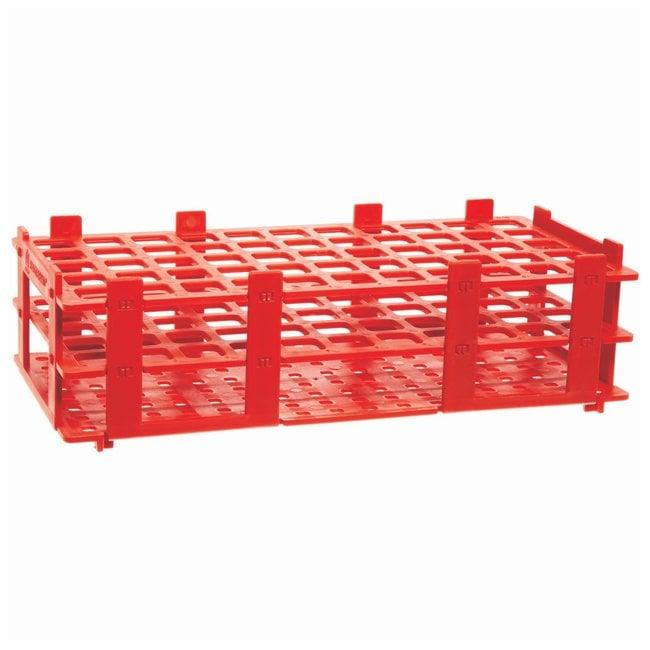 BRAND™Polypropylene Test Tube Racks For 16mm (0.63in.) tubes; Red BRAND™Polypropylene Test Tube Racks