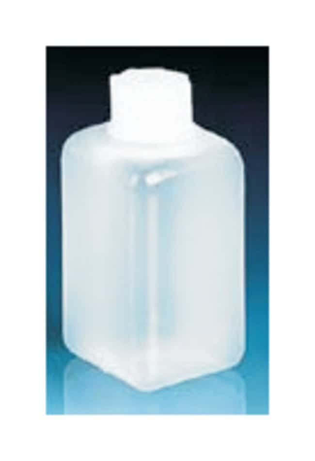 BrandTech™ Square Bottles with Screw Caps LDPE; PP Screw cap; Thread (GL): 32; 1000mL BrandTech™ Square Bottles with Screw Caps
