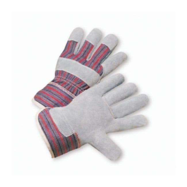 West Chester Split Cowhide Palm Starch Cuff Gloves Starched safety cuff;
