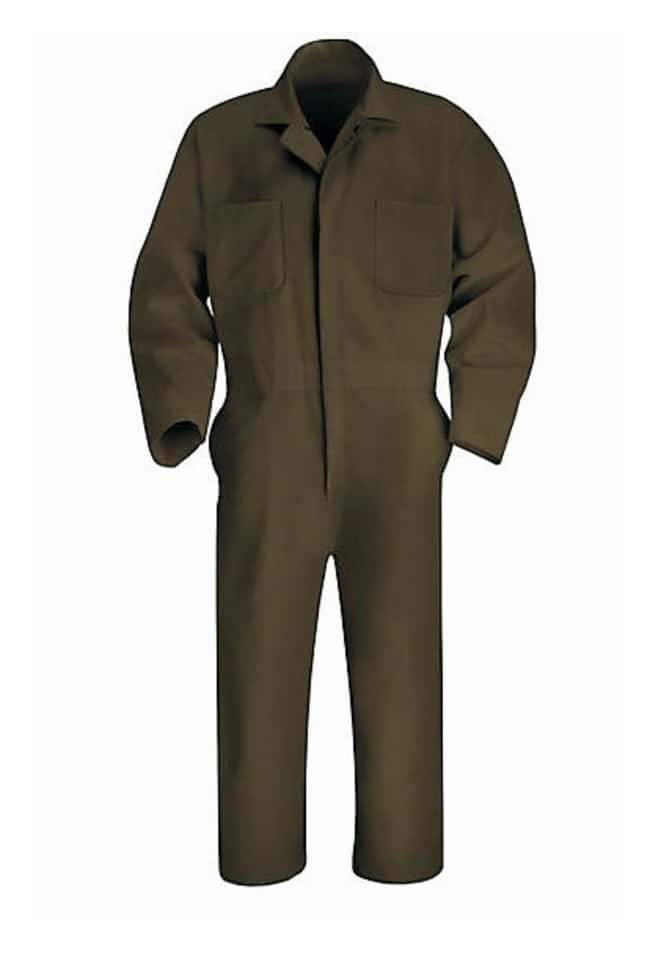 VF Workwear Red Kap Twill Action Back Coveralls Brown; Regular; Size: 48:Gloves,