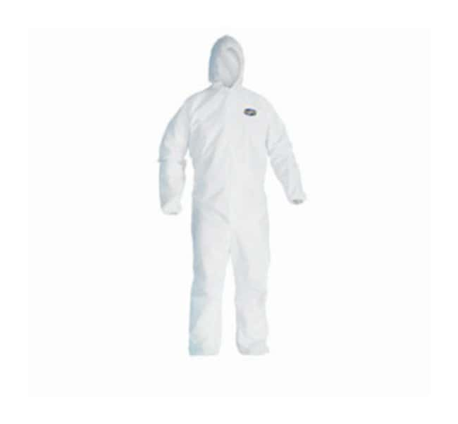 Kimberly-Clark Professional™ KleenGuard™ A30 Breathable Splash Particle Protection Coveralls with Elastic Back, Wrists and Ankles and Attached Hood
