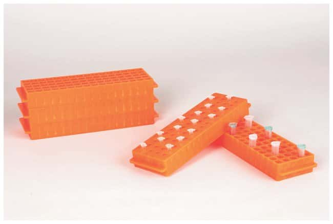 Fisherbrand Polypropylene Microtube Storage Racks Color: Orange:Racks,