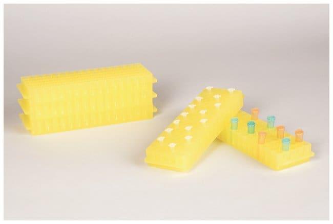 FisherbrandPolypropylene Microtube Storage Racks Color: Yellow:Racks