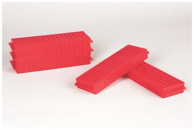 Fisherbrand Polypropylene Microtube Storage Racks Color: Red:Racks, Boxes,