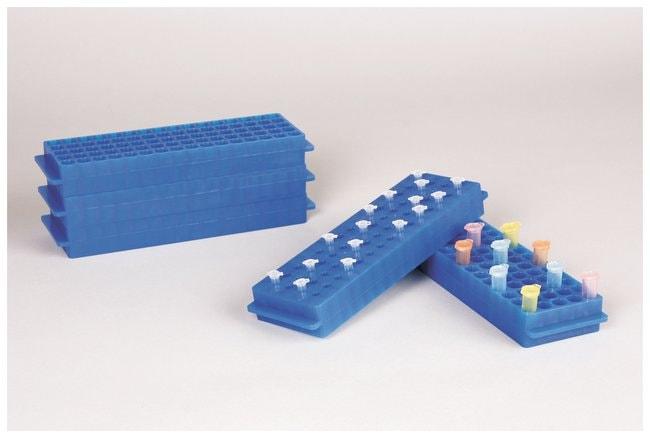 FisherbrandPolypropylene Microtube Storage Racks Color: Fluorescent Blue:Racks