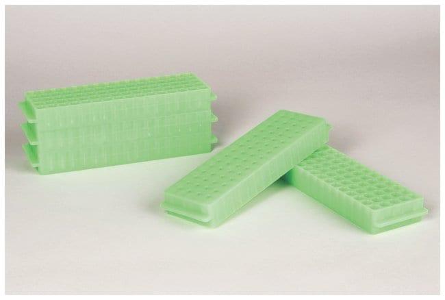 FisherbrandPolypropylene Microtube Storage Racks Color: Fluorescent Green:Racks