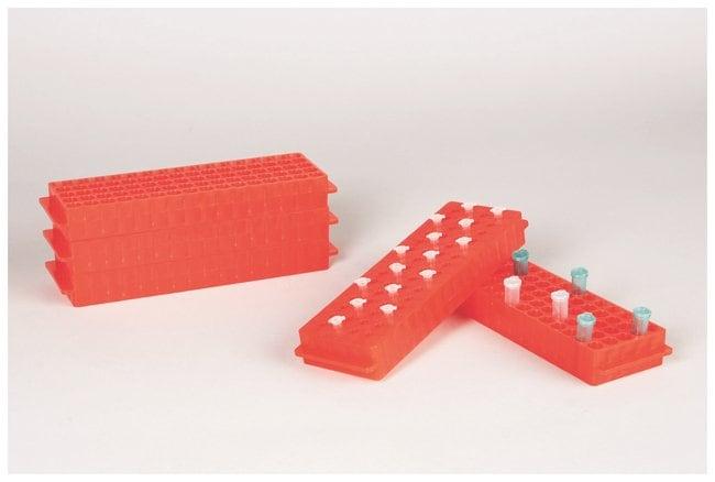 FisherbrandPolypropylene Microtube Storage Racks Color: Fluorescent Orange:Racks