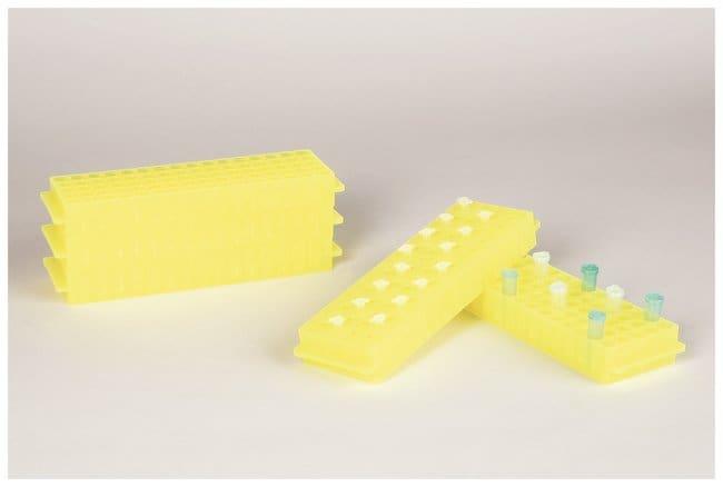 Fisherbrand Polypropylene Microtube Storage Racks Color: Fluorescent Yellow:Racks,