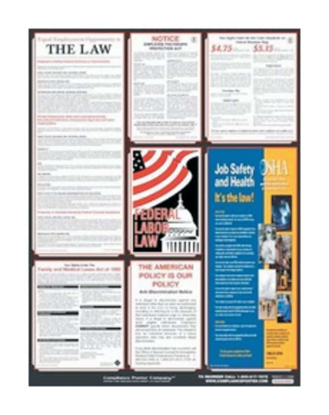 Accuform Signs Posters: Combined State, Federal and OSHA Labor Laws US