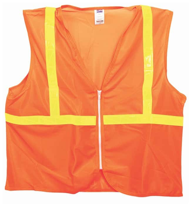 Honeywell Class 2 Traffic Safety Vest Orange; X-Large:Gloves, Glasses and