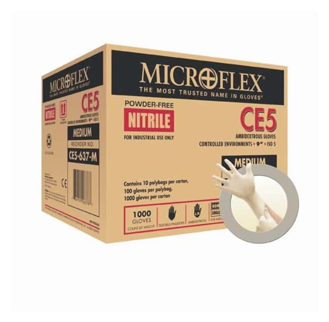 Microflex CE5 System Nitrile Gloves Length: 9 in.; Size: X-Large:Gloves,