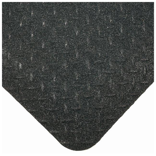 Wearwell Diamond-Plate SpongeCote Mat L x W: 3 x 2 ft.; Color: black: Thickness: