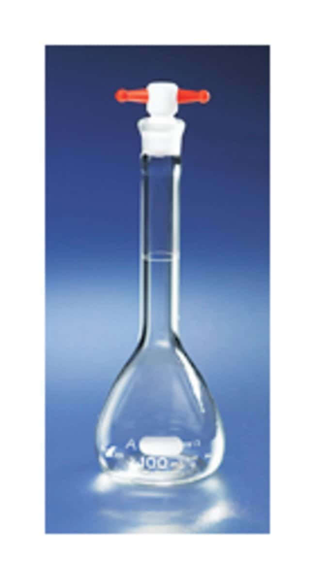 PYREX Class A Volumetric Flasks with PTFE Stoppers 100 mL:Dishes, Plates