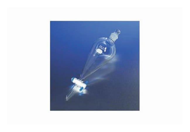 PYREX Squibb Separatory Funnel, PTFE Standard Stopcock, Glass Standard