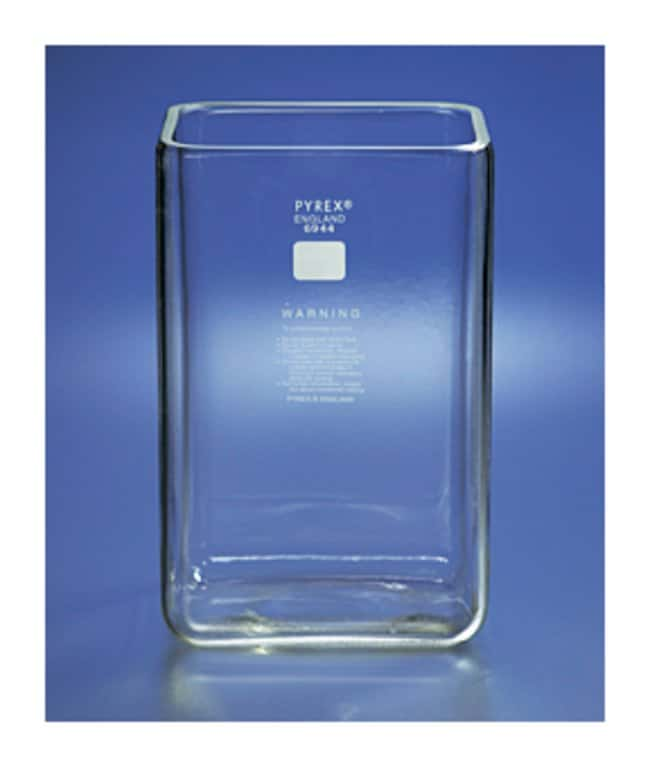 PYREX™ Rectangular Chromatography Tank With Ground Edges