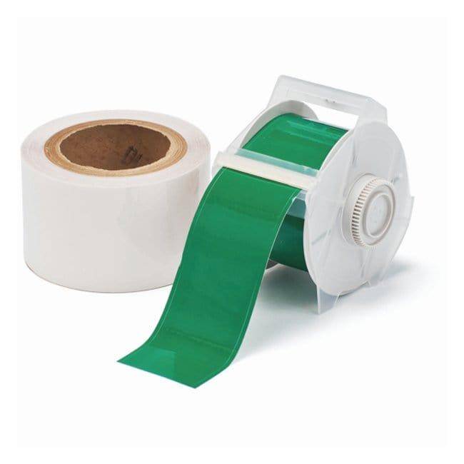 Brady™ToughStripe™ Etiketten mit Überlaminierung Grünes Band und klare Überlaminierung; Druckerkompatibilität: GlobalMark; 1.125Zollx100Fuß Brady™ToughStripe™ Etiketten mit Überlaminierung