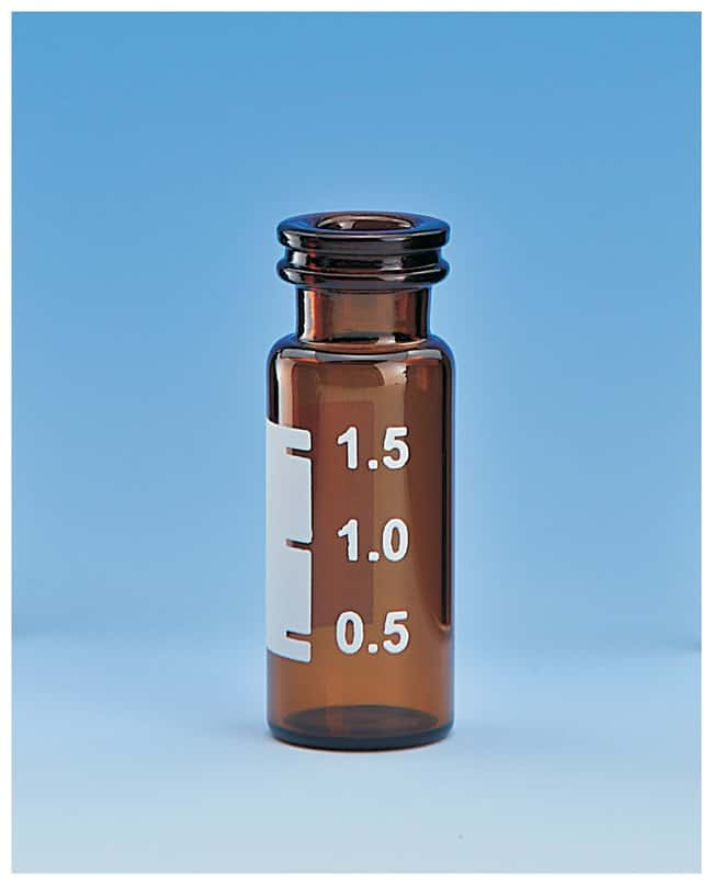 Worldwide Glass Resource11mm Large Opening Snap Vials 1.8mL; Amber; Writing