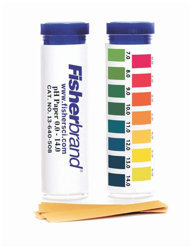 Fisherbrand pH Paper Strips  Range: 0.0 to 14.0:Teaching Supplies