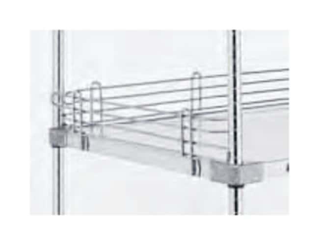 Metro™Super Erecta™ Wire Shelving Accessory, Shelf Ledge For solid shelf; Finish: Stainless-steel; Height: 4 in. (10cm); Length: 18 in. (45.7cm) Metro™Super Erecta™ Wire Shelving Accessory, Shelf Ledge