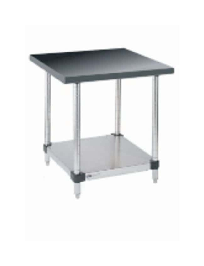 Metro™Stainless Lab Worktable, Black Phenolic Top and Solid HD Shelf: Tables and Accessories Work Surfaces