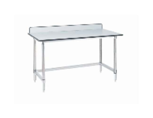 Metro Stainless Lab Worktable, Gray Phenolic Top and 3-Sided Frame :Furniture,