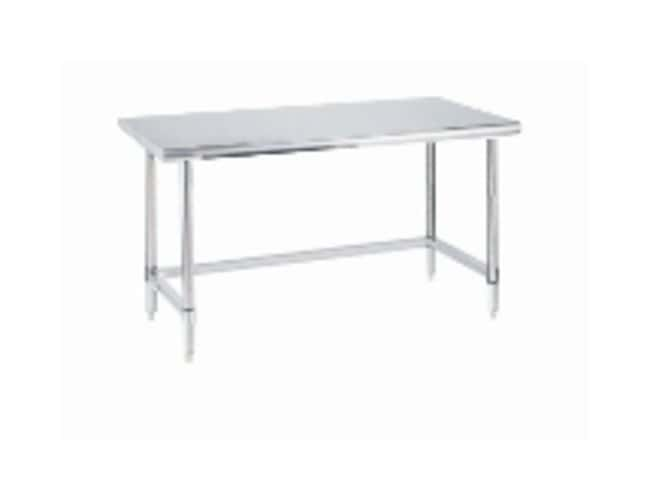 Metro™Stainless Lab Worktable, Stainless Island Top and 3-Sided Frame Stationary; 59.7L x 30W x 35.3 in.H (151.7x 76.2 x 89.8cm) Metro™Stainless Lab Worktable, Stainless Island Top and 3-Sided Frame