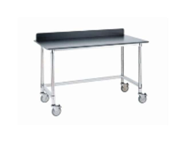 Metro Stainless Lab Worktable, Black Phenolic Top and 3-Sided Frame :Furniture,