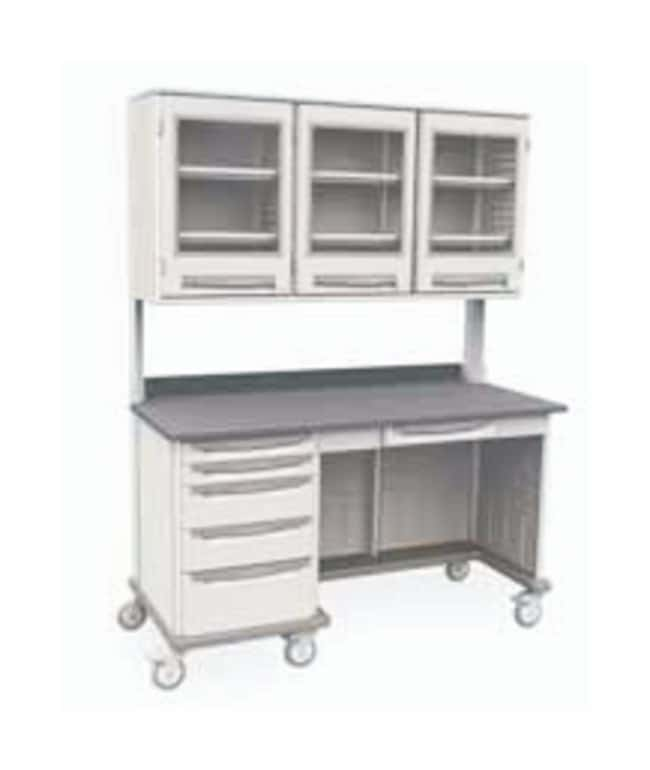Metro Starsys Mobile Work Centers With Overhead Cabinet Mobile Work Centers