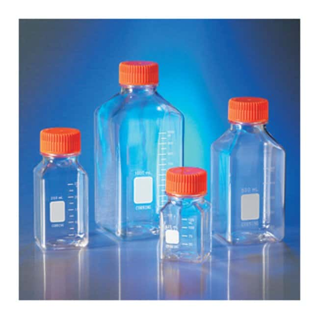 Corning™PET Storage Bottles, Square with Cap