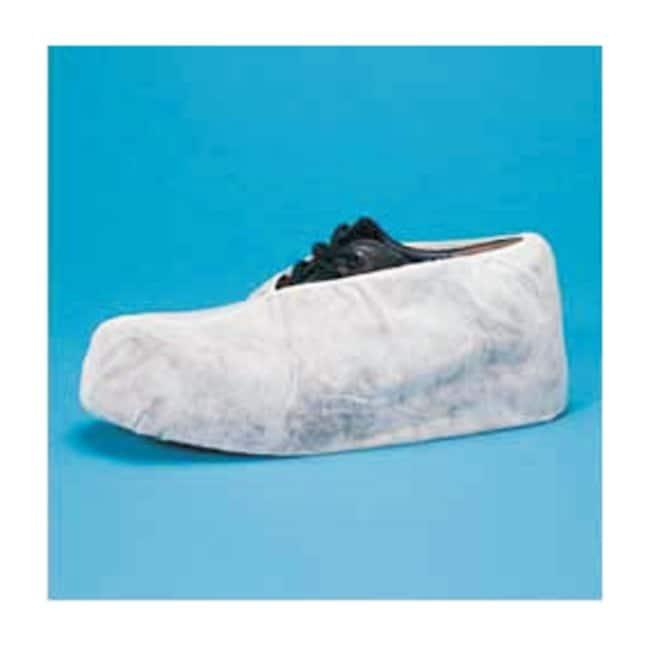 Keystone Polypropylene Shoe Covers Size: 16.5 x 6 in.; White:Gloves, Glasses