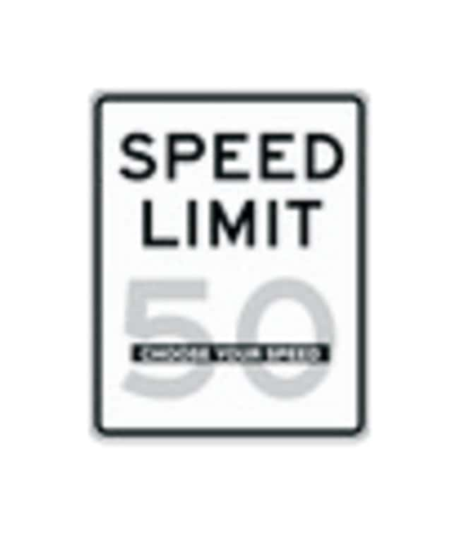 Accuform Signs Traffic Safety Signs: Speed Limits Legend: SPEED LIMIT 50;