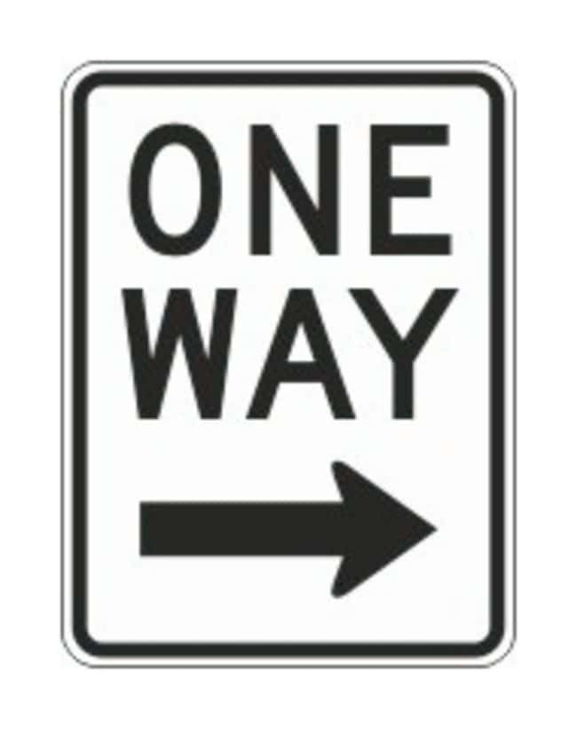 Accuform Signs One-Way Traffic Signs Arrow right; Size: 24 x 18 in.:Gloves,