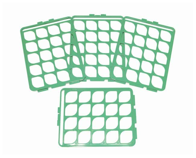 Bel-Art™ Switch-Grid™ Test Tube Rack Grids Grid Set; Green; 16-20mm tubes Bel-Art™ Switch-Grid™ Test Tube Rack Grids
