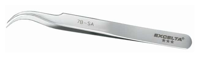 Excelta™ Precision Tweezers With Curved Tips and Fine Serrated Points
