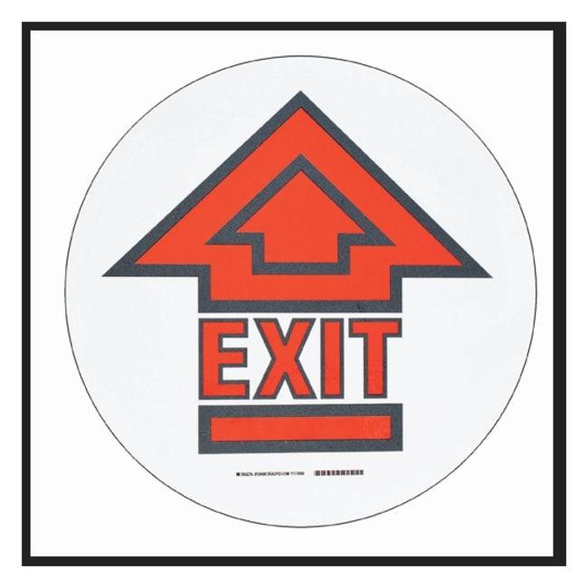 Brady™ToughStripe™ Anti-Slip Floor Safety Sign Legend: EXIT; Symbol: arrow; Red and black on white Brady™ToughStripe™ Anti-Slip Floor Safety Sign